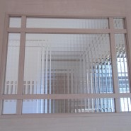 A様邸チェッカーガラス